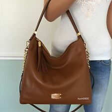 NEW! MICHAEL KORS Bedford Brown Leather Large Shoulder Crossbody Bag Hobo purse