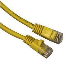 10 LOT 1/2FT Yellow Cat6 Network LAN Copper Cable Ethernet patch Rj45 pack Half
