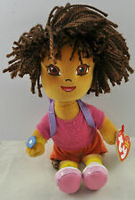 DORA AND DIEGO TY BEANIE BABIES - 8 INCHES - NEW