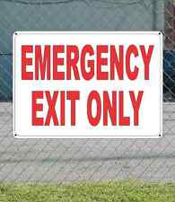 "EMERGENCY EXIT ONLY - OSHA Safety SIGN 10"" x 14"""
