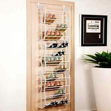 Durable Over-The-Door Hanging Shoe Holder Organizer Rack Holds 36-Pairs of Shoes