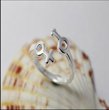 Wholesale 925 Sterling Silver Plated Women Fashion Anchors Rings SIZE Open NICE
