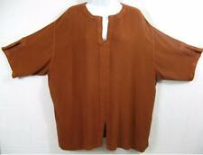 TIENDA HO~COPPER~MOROCCAN COTTON~Jana Trapunto Top~S/S~SOFT~OS~PLUS
