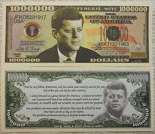 John F Kennedy Million Dollar Novelty Collector Bill Note