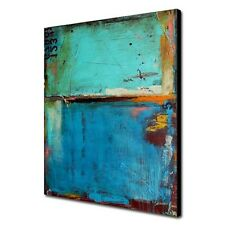 Large Modern Abstract Art Oil Painting Wall Decor canvas NO frame Blue