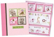 Silly Monkey Baby Girl - Babys First Five Years Keepsake Record Book with Box