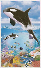 UNDER SEA Scene Setter LUAU party wall  door poster decoration whale fish beach