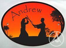Personalised Aikido Iaido Kendo Samurai Door Name Plaque Sign