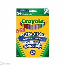 Crayola Art Craft Drawing Painting 24 Washable Fine Line Markers Colossal