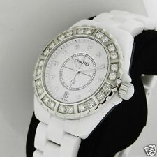 Chanel J12 Quartz 38mm H2430 Ceramic White Diamonds Brand NEW Retail: $19,200
