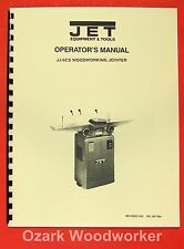 "JET/Asian 6"" Jointer Model JJ-6CS 708456 Operator's & Parts Manual 0891"