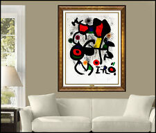 Joan Miro Original Color Lithograph Hand Signed Modern Abstract Illustration Art