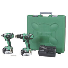 Hitachi KC18DBFL 18V Li-ion Brushless Cordless Combo Kit with Hard Case **NEW**
