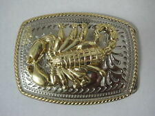 SCORPION  2 TONE SILVER AND GOLD  RODEO WESTERN COWBOY  BELT BUCKLE NEW