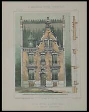 VICHY, VILLA VAN DYCK - 1903 - PLANCHES ARCHITECTURE - PERCILLY