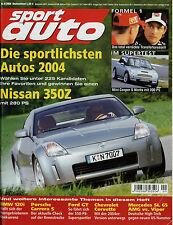 sport auto 9/04 2004 Fahrbericht Corvette C6 Viper SRT-10 Carrera S Ford GT 120i