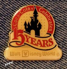 Coca-Cola Celebrates 15 Years Walt Disney World~WDW~LE~1986~Disney Pin #497