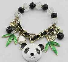 B5 Betsey Johnson Exquisite Lovely Baby Panda with Bamboo Bead Bracelet US