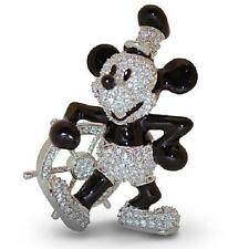 "DISNEY PARKS ""STEAMBOAT WILLIE MICKEY MOUSE"" FIGURINE BY ARRIBAS - SWAROVSKI®"