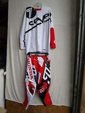 Men's motocross COMBO set FOX 360 HONDA pants 34, Jersey SEVEN Large red/wht