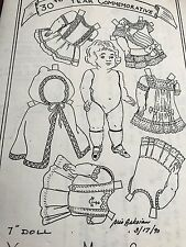 "ANTIQUE FRENCH BRU JUMEAU MIGNONETTE 7"" DOLL WARDROBE PATTERN GERMAN ALL BISQUE"