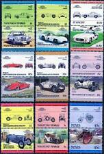 MERCEDES BENZ Collection of 18 Car Stamps (Auto 100 / Leaders of the World)