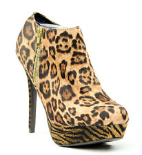 Material Girl Rachel Bootie Mixed Animal Print  Womens 11 M US