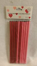 NEW  Metallic Pencils--Red and Pink-Pkg of 10  Valentine