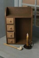 Wood BROWN Spice/Candle/Garden Seeds CABINET BOX/Cubby/Shelf*Apothecary Drawers