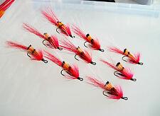 Salmon Flies... ALLIES SHRIMPS RED...3x of sizes #4,#6 & #8...!