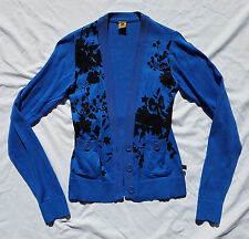 AS NEW Freshjive Size XS Cardigan Blue Long Sleeve Floral Print Very Dita Chic