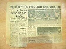 1966 World Cup Press Cutting- VICTORY FOR ENGLAND & SOCCER!Now Ramsey Orders....