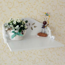 SHABBY CHIC STYLE White Roses HANGER Telephone Stand Shelves Shelf Wall Art