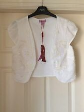BNWT MONSOON IVORY TOBA CARDIGAN / SHRUG SZ 8 NEW  RRP