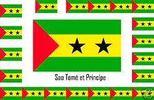 Assortiment lot de 10 autocollants Vinyle stickers drapeau Sao-Tomé-et-Principe