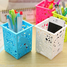 1X Hollow Cosmetic Plastic Storage Box Case Brush Pen Holder Container Organizer