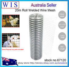 "20m Roll Welded Wire Mesh for Garden,Pet,Chicken,Aviary Fencing,1/2""x 1/2""-67120"
