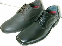 Mens Hush Puppies Norwich Lace Black Or Brown Leather Smart Lace Up Shoes