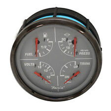 FARIA GF6016A FUEL/VOLT/WATER PRESSURE/TRIM OVERSIZED MULTI FUNCTION BOAT GAUGE