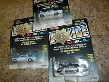 3 LOT R/C POLICE CARS USA 1960 IMPALA PENNSYLVANIA 1960 CORVAIR NEW ORLEANS DARE
