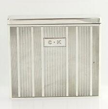 Tiffany & Co. Vintage Cigarette Case - Sterling Silver 925 Engraved CK Polished