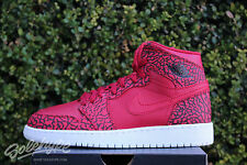 NIKE AIR JORDAN 1 RETRO HI PREMIUM GS SZ 6 Y ELEPHANT PRINT RED 838850 600