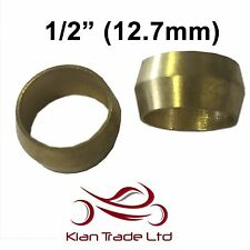 "1/2"" (12.7mm) - 10PCS BRASS COMPRESSION OLIVES PLUMBING FITTINGS ADAPTER"