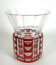 Val Saint Lambert Art Deco Glas Vase signiert Handgeschliffen 20er 30er Jahre