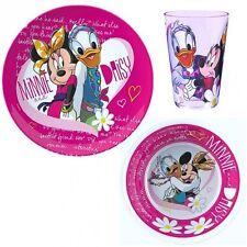 Minnie Maus - Set Frühstück Melamin Geschirr Mouse & Daisy (3 tlg.)