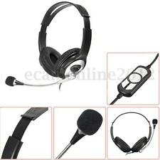 OVLENG Game USB Stereo Headphone Headset Earphone w/Microphone Mic For PC Laptop