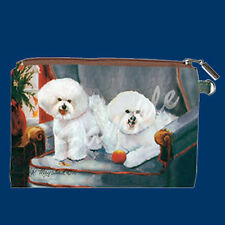 NEW Ruth Maystead Best Friends Zippered Pouch Bichon Frise
