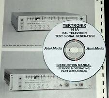 Tek 141A R141A PAL TV Generator Ops & Service Manual