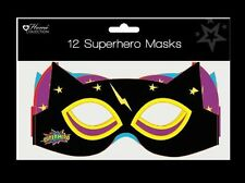 SUPERHERO MASKS 12pk child Party birthday bag toy costume fancy dress paper kid