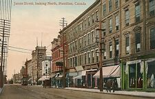 James Street Looking North in Hamilton Canada Postcard